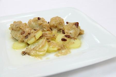 Calamares Rellenos de Gambas y Manzana