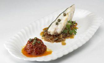 Imagen de la receta de Rodaballo a la Plancha sobre Cebolla Caramelizada