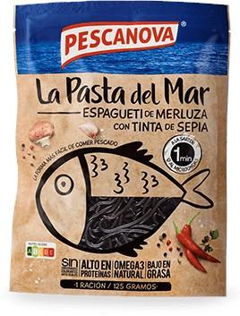 Espagueti de Merluza con Tinta de Sepia 125g
