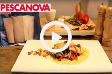 Wok de Verduras Crujientes, Bacalao y Salsa Curry